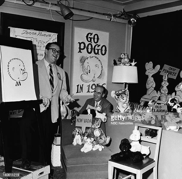 'Pogo' cartoonist Walt Kelly at the 1956 Democratic National Convention held at the International Amphitheatre in Chicago Il from August 1317 1956...