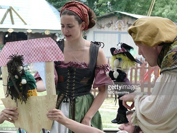 Polly Solomon As Little Gouda Gannouj Gypsy And Anton Rayn As Cameron The Bear Gannouj Gypsy The New York Renaissance Faire in Tuxedo NY brings the...