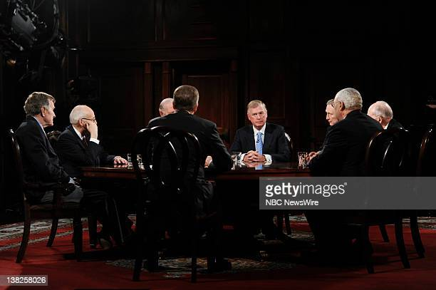 President George HW Bush Former Vice President Richard Cheney Former Secretary of State James Baker III Brian Williams Former Vice President J...