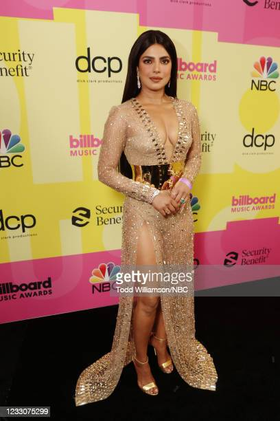 Pictured: Priyanka Chopra arrives to the 2021 Billboard Music Awards held at the Microsoft Theater on May 23, 2021 in Los Angeles, California. --
