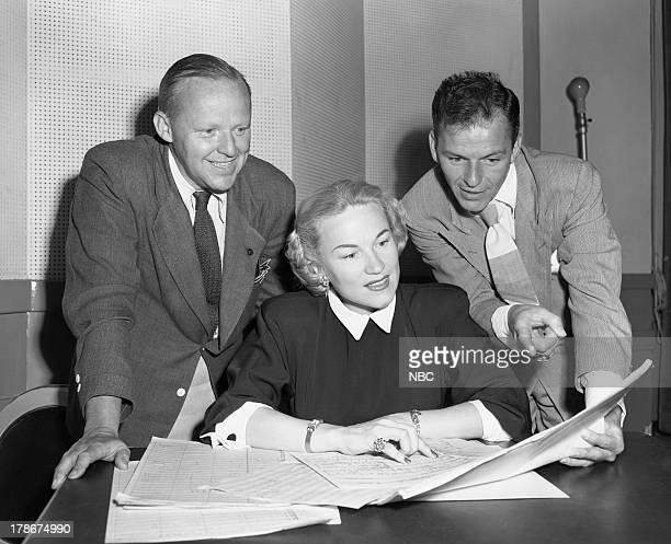 Producer Dave White Dorothy Kirsten Frank Sinatra in 1949