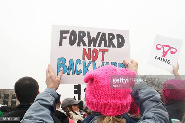 Pictured: Prostester march in Washington D.C. To raise awareness for women's rights on January 21, 2017 --
