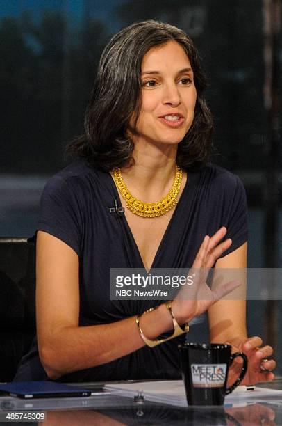 Radhika Jones TIME Deputy Managing Editor appears on Meet the Press in Washington DC Sunday April 20 2014