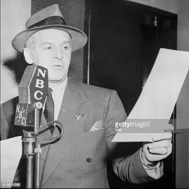 Radio personality Walter Winchell