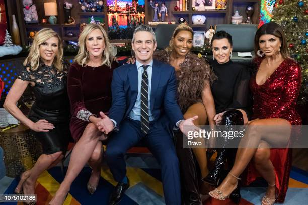 Pictured : Ramona Singer, Vicki Gunvalson, Andy Cohen, NeNe Leakes, Kyle Richards and Teresa Giudice --