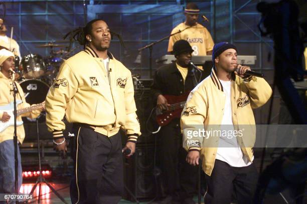 Rapper Busta Rhymes performing with fellow Flipmode Squad member Spliff Star on December 4th 2001