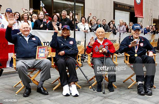 Ray Lumpp Alice Coachman Sammy Lee and Mal Whitfield appear on NBC News' 'Today' show