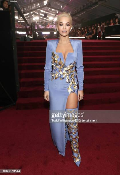 Recording artist Rita Ora arrives to the 2018 E People's Choice Awards held at the Barker Hangar on November 11 2018 NUP_185069