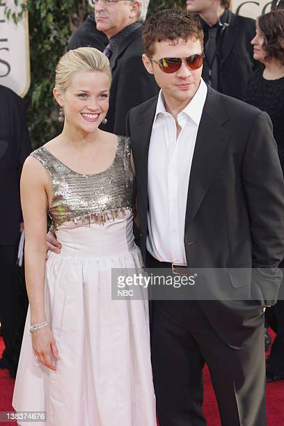 Reese Witherspoon and Ryan Phillippe arrive at The 63rd Annual Golden Globe Awards at the Beverly Hilton Hotel