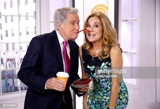 Regis Philbin and Kathie Lee Gifford appear on NBC News' Today show