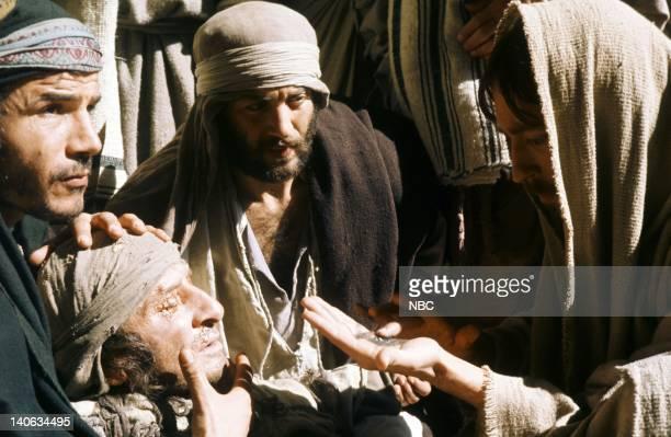Renato Rascel as The Blind Man Robert Powell as Jesus Photo by NBC/NBCU Photo Bank