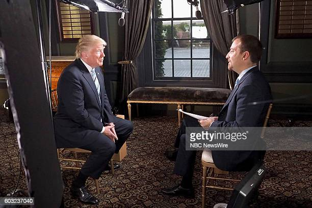 Republican Presidential candidate Donald Trump Moderator Chuck Todd in the first sitdown interview post RNC on July 23 2016 airing on 'Meet The...