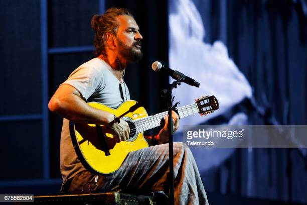 Ricardo Arjona performs during rehearsals at the Watsco Center in the University of Miami Coral Gables Florida on April 26 2017