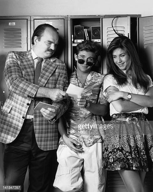 Pictured: Richard Riehle as Principal Ed Rooney, Charlie Schlatter as Ferris Bueller, Jennifer Aniston as Jeannie Bueller -- Photo by: Alice S....