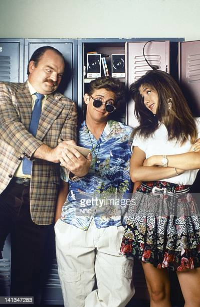 Richard Riehle as Principal Ed Rooney Charlie Schlatter as Ferris Bueller Jennifer Aniston as Jeannie Bueller Photo by Alice S Hall/NBC/NBCU Photo...