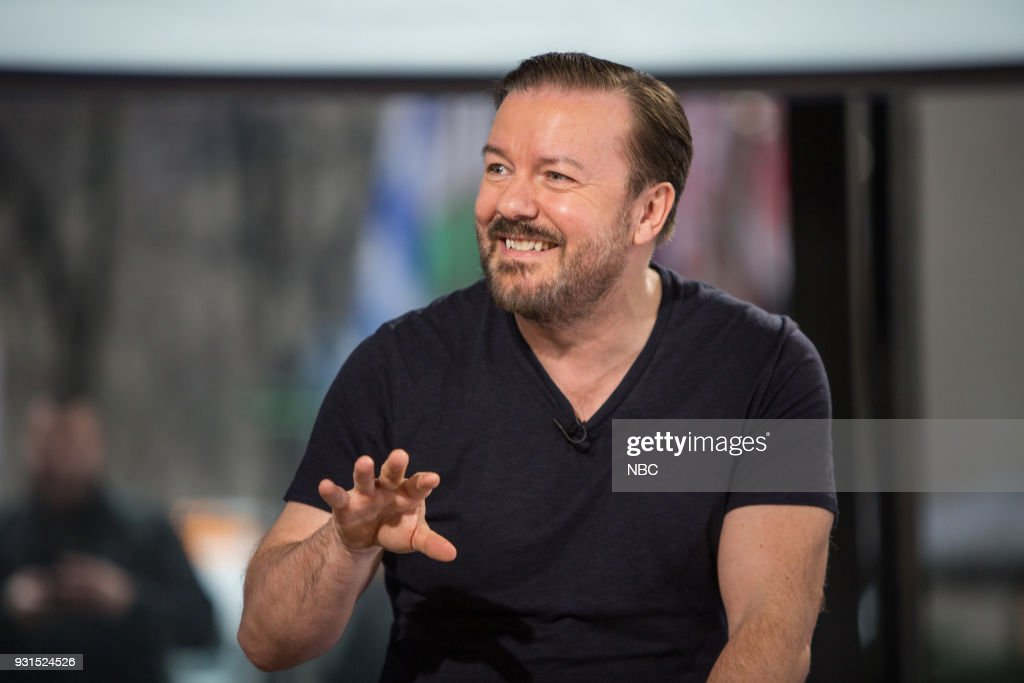 Ricky Gervais on Tuesday, March 13, 2018 --