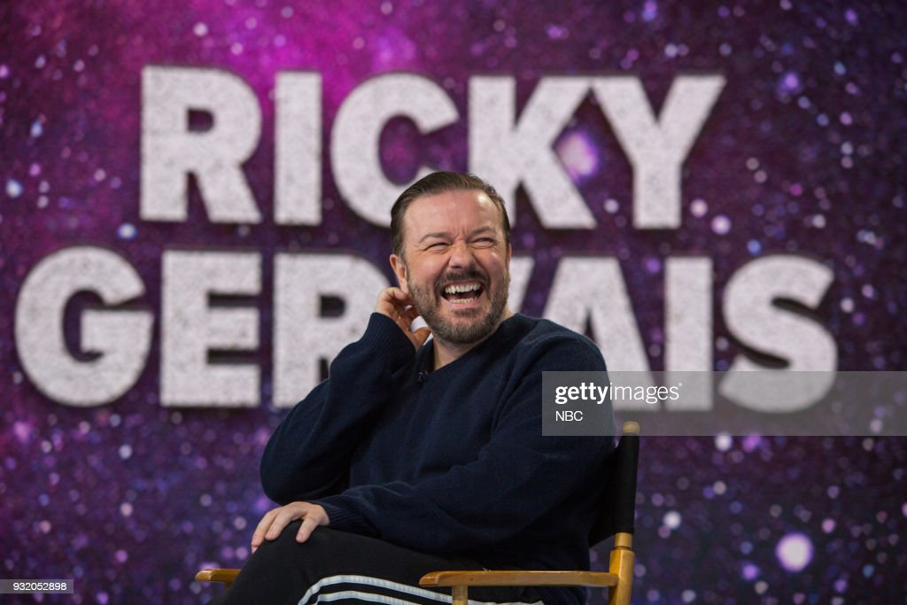 Ricky Gervais on Wednesday, March 14, 2018 --