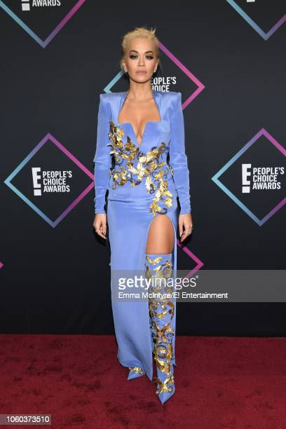 Rita Ora arrives to the 2018 E People's Choice Awards held at the Barker Hangar on November 11 2018 NUP_185068