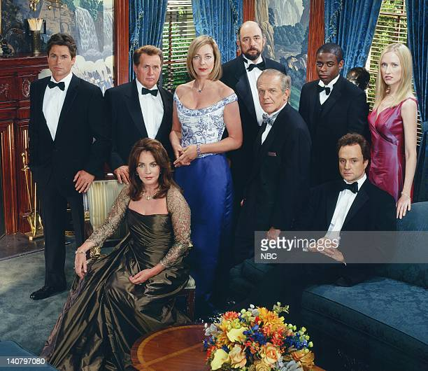 Rob Lowe as Sam Seaborn Martin Sheen as President Josiah Jed Bartlet Stockard Channing as Abbey Bartlet Allison Janney as Claudia Jean 'CJ' Cregg...