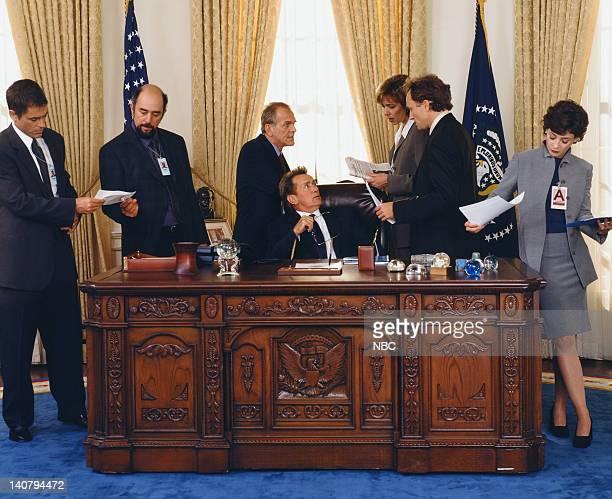 Rob Lowe as Sam Seaborn Richard Schiff as Toby Zieger John Spencer as Leo McGarry Martin Sheen as President Josiah Jed Bartlet Allison Janney as...