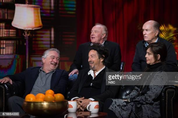 Robert De Niro, Al Pacino, James Caan, Robert Duvall and Talia Shire on Saturday, April 29, 2017 --