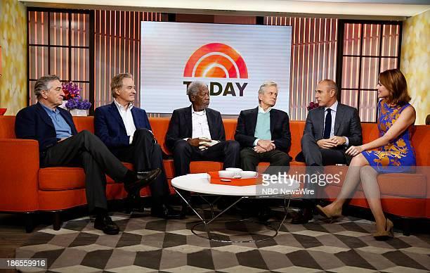 Robert De Niro Kevin Kline Morgan Freeman Michael Douglas Matt Lauer and Savannah Guthrie appear on NBC News' 'Today' show