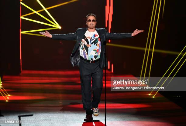 Robert Downey Jr speaks on stage during the 2019 E People's Choice Awards held at the Barker Hangar on November 10 2019 NUP_188997
