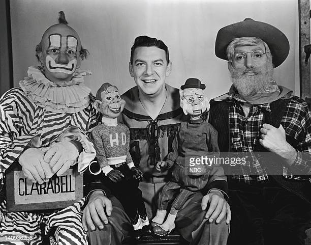Robert Nicholson as Clarabell the Clown Howdy Doody Bob Smith as Buffalo Bob Smith Phineas T Bluster Bill LeCornec as Oil Well Willie Photo by NBCU...