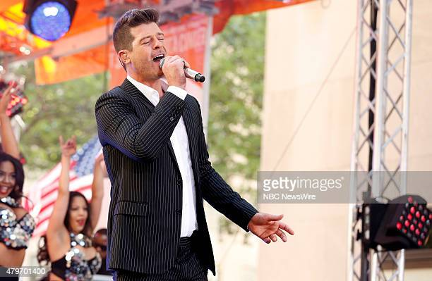 Robin Thicke appears on NBC News' 'Today' show