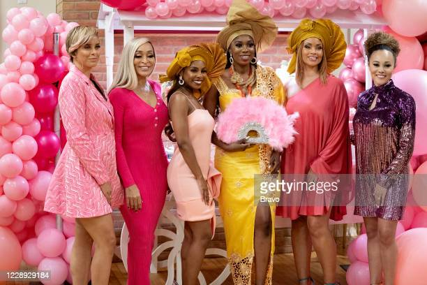 Pictured: Robyn Dixon, Karen Huger, Candiace Dillard, Wendy Osefo, Gizelle Bryant, Ashley Darby --