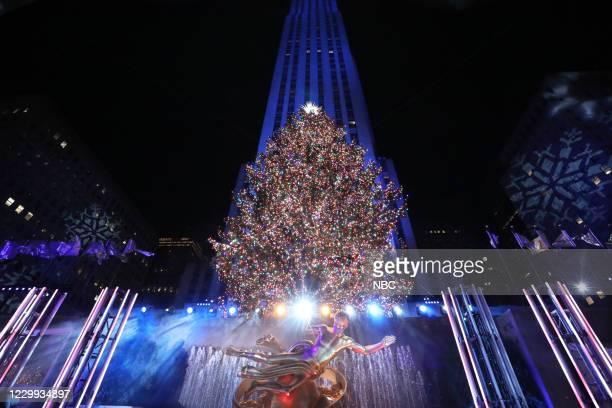 Pictured: Rockefeller Center Christmas tree --