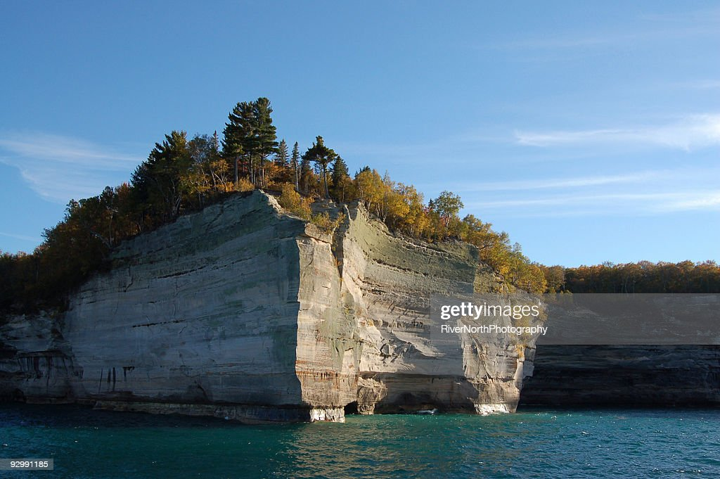 Pictured Rocks : Stock Photo