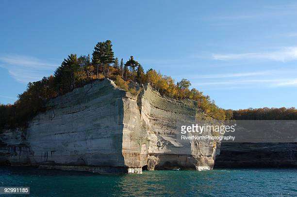 pictured rocks - munising michigan stock pictures, royalty-free photos & images