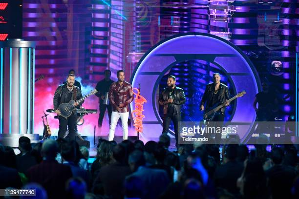 Pictured: Romeo Santos and Aventura perform at the Mandalay Bay Resort and Casino in Las Vegas, NV on April 25, 2019 --