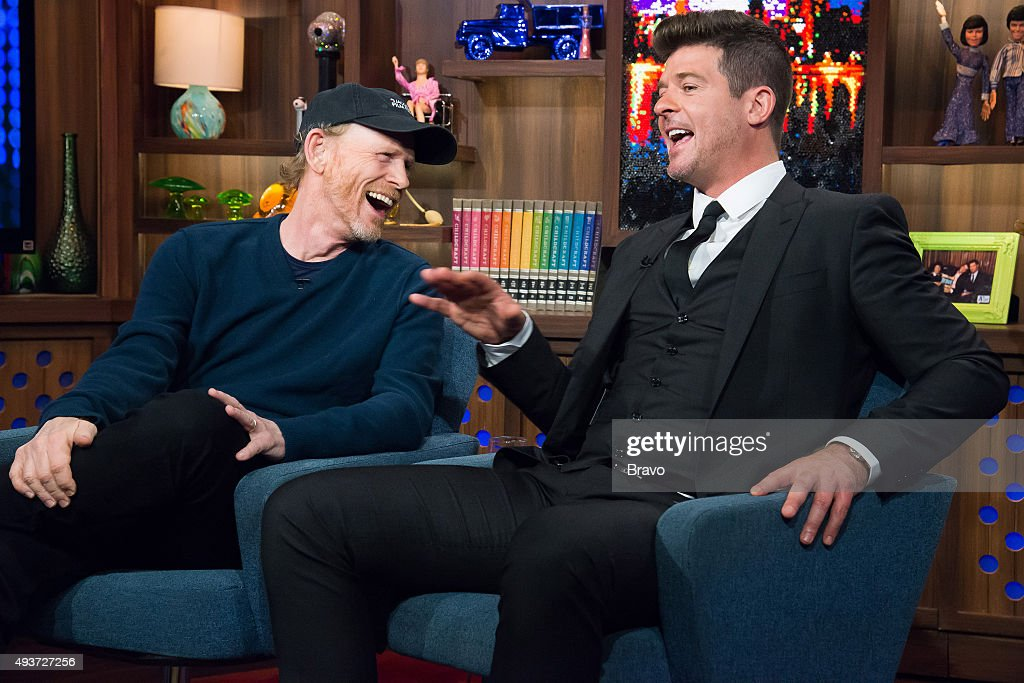 Ron Howard and Robin Thicke --