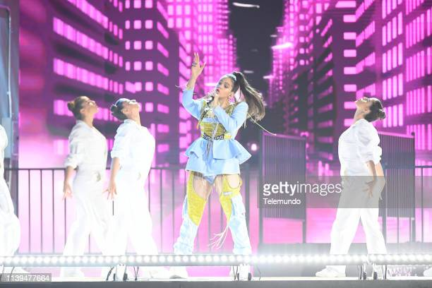 Pictured: Rosalia performs at the Mandalay Bay Resort and Casino in Las Vegas, NV on April 25, 2019 --