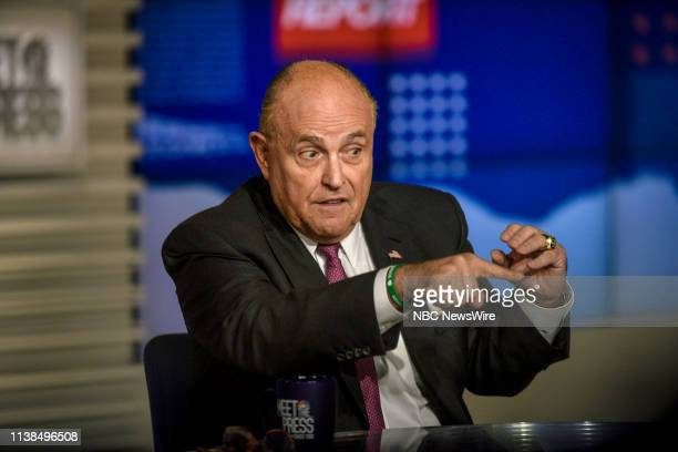 Rudy Giuliani Lawyer for President Donald Trump appears on Meet the Press in Washington DC Sunday April 21 2019