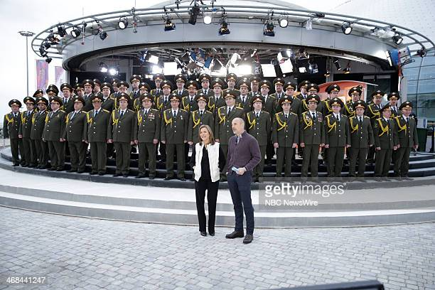 Russian Police Choir with Meredith Vieira and Matt Lauer from the 2014 Olympics in Socci