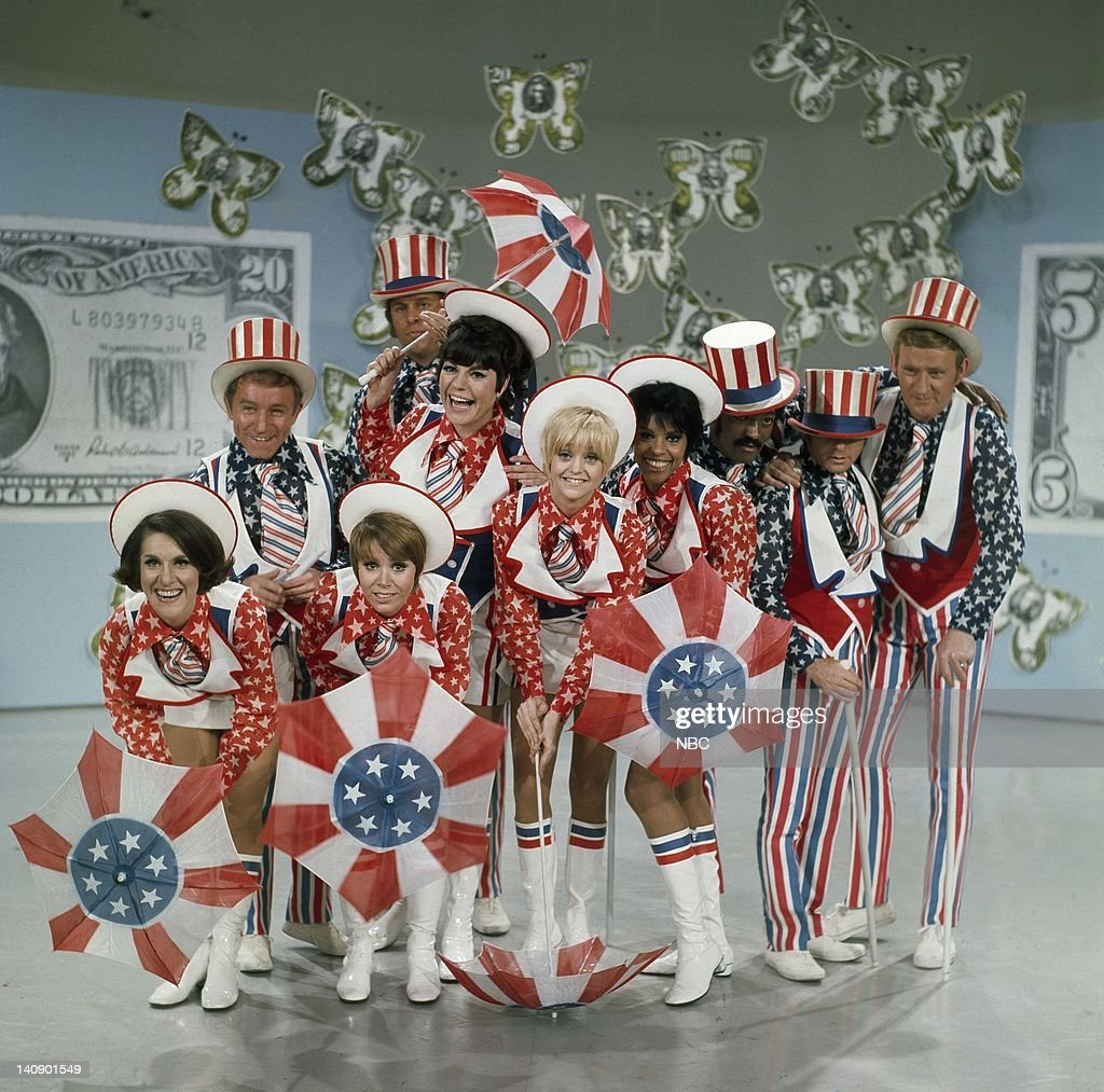 Ruth Buzzi, Henry Gibson, Judy Carne, Jo Anne Worley, Goldie Hawn, Teresa Graves, Byron Gilliam, Arte Johnson, Dave Madden (far back) unknwon -- Photo by: NBCU Photo Bank