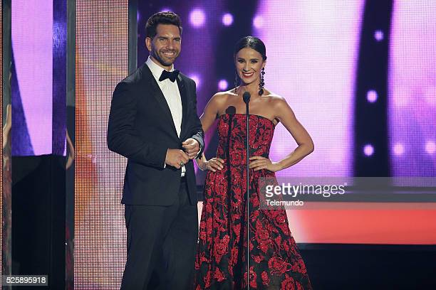 Sabrina Seara and Arap Bethke speak on stage during the 2016 Billboard Latin Music Awards at the BankUnited Center in Miami Florida on April 28 2016