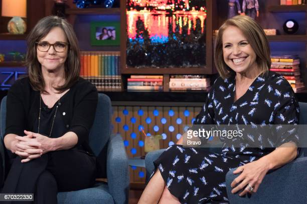 Sally Field and Katie Couric