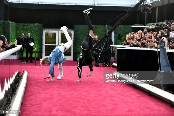 Sam Golbach and Colby Brock arrive to the 2019 E People's Choice Awards held at the Barker Hangar on November 10 2019 NUP_188996