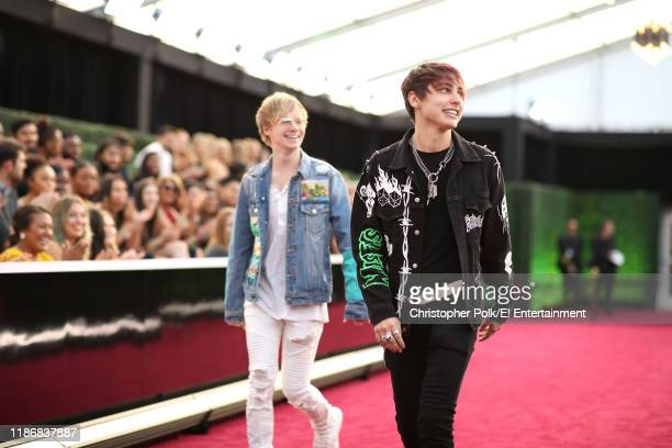 Sam Golbach and Colby Brock arrive to the 2019 E People's Choice Awards held at the Barker Hangar on November 10 2019 NUP_188992