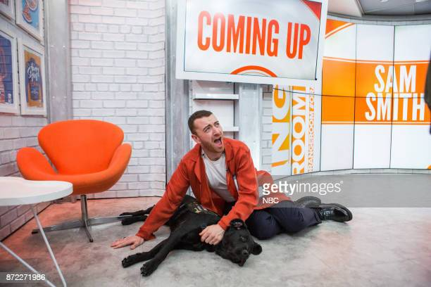 Sam Smith and Charlie the Today Show puppy on Wednesday November 8 2017