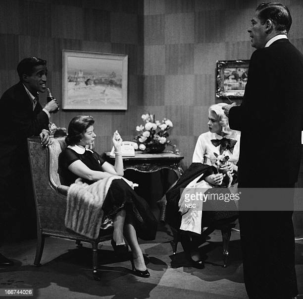 Sammy Davis Jr unknown Jayne Mansfield Milton Berle in 1956
