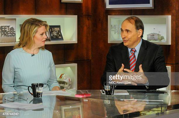 Sara Fagen Former White House Political Director for President George W Bush left and David Axelrod Director University of Chicagos Institute of...