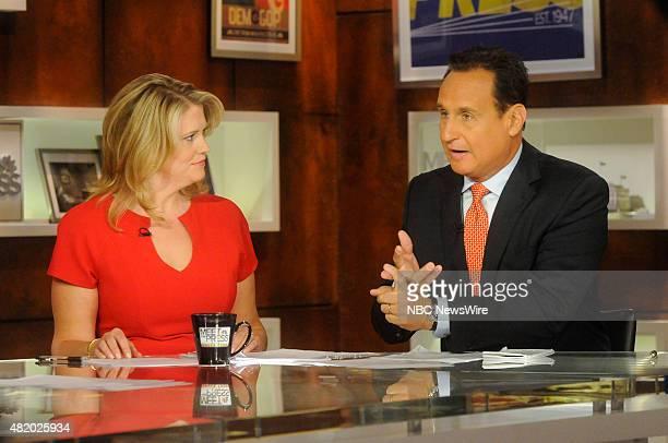 Sara Fagen Partner DDC Former White House Political Director for President George W Bush left and Jose DiazBalart Anchor Telemundos Noticiero...