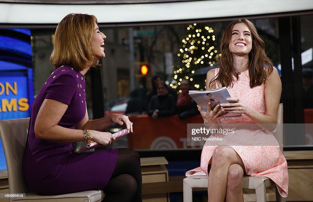 Savannah Guthrie and Allison Williams appear on NBC News' 'Today' show --