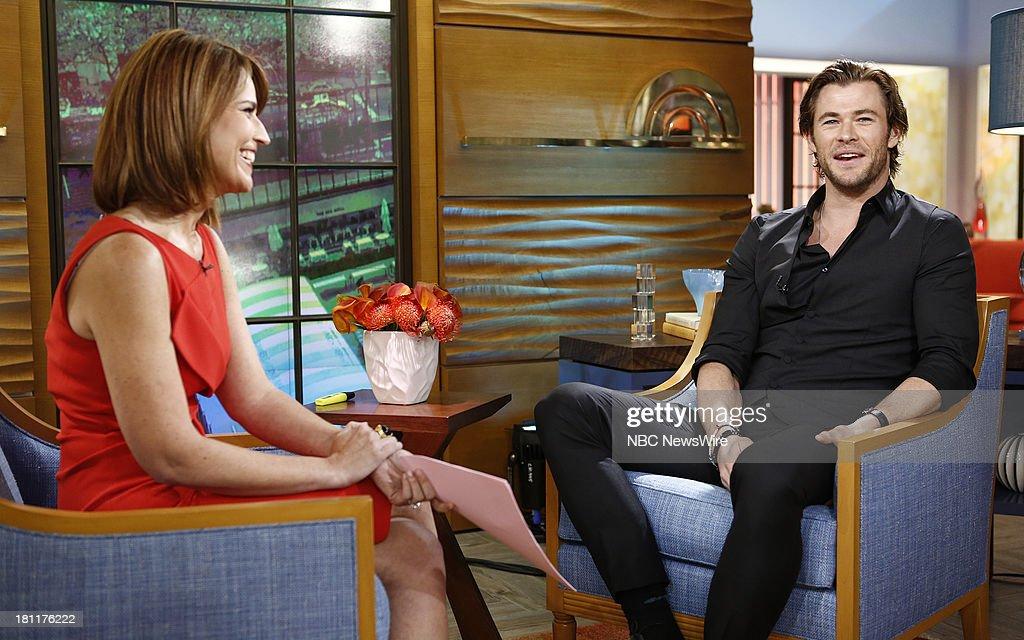 Savannah Guthrie and Chris Hemsworth appear on NBC News' 'Today' show --