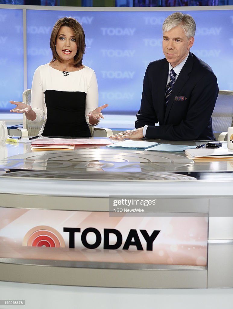 Savannah Guthrie and David Gregory appear on NBC News' 'Today' show --